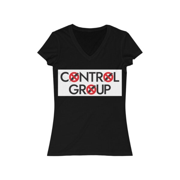 Control Group  - Women's V-Neck Tee - Red/Black