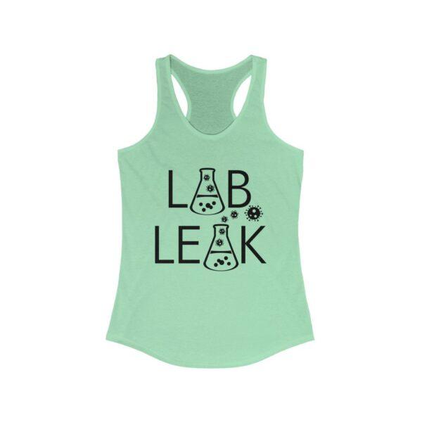 LAB LEAK - Women's Pastel Racerback Tank Top  - Your Tax Dollar At Work- on Back