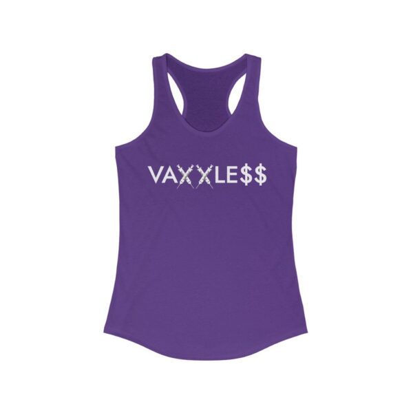 VAXXLE$$ - Women's Dark Racerback Tank Top - My Body, My Decision