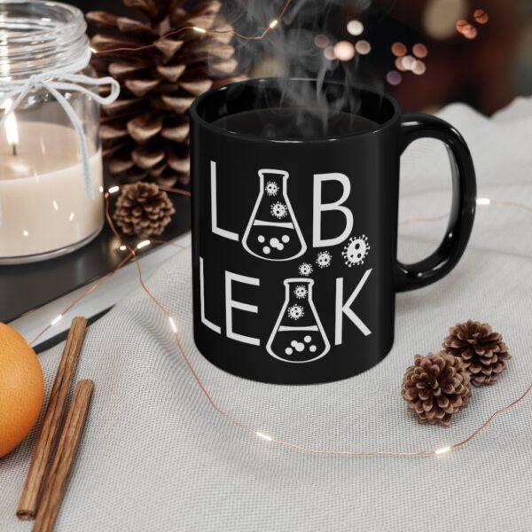 LAB LEAK - Black mug 11oz