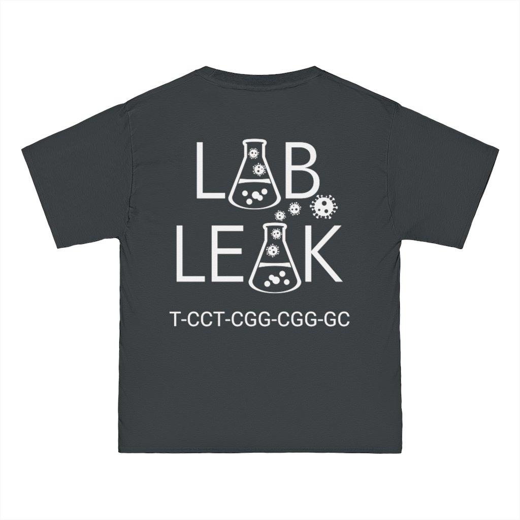 LAB LEAK - Beefy Tee - BLACK - S1/S2 Codon on Back
