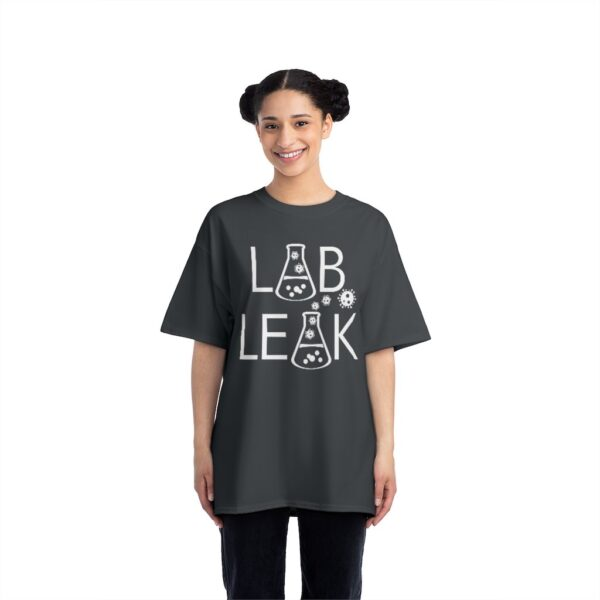 LAB LEAK - Beefy Tee - BLACK - Your Tax Dollar At Work- on Back