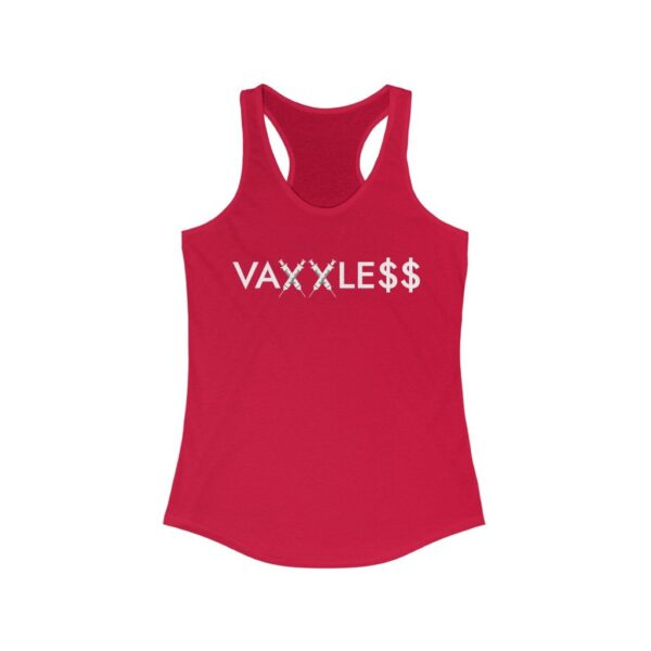 VAXXLE$$ - Women's Dark Racerback Tank Top - 0% Injury Rate