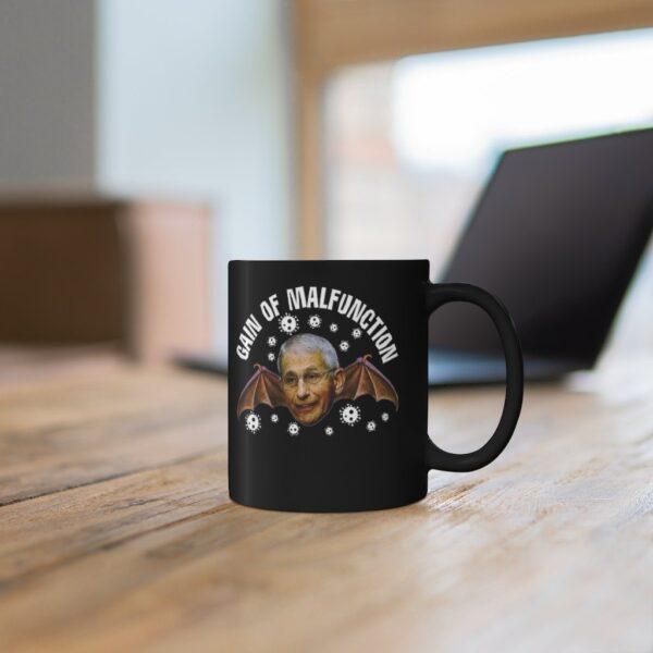 GAIN OF MALFUNCTION  - Black mug 11oz