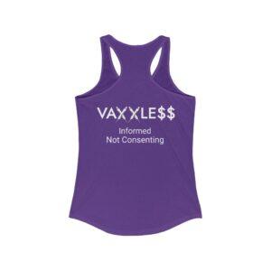 VAXXLE$$ - Women's Dark Racerback Tank Top - Informed Not Consenting