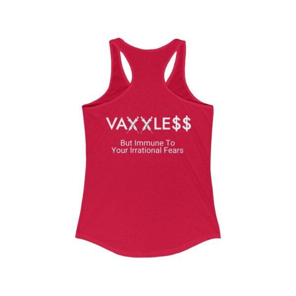 VAXXLE$$ - Women's Dark Racerback Tank Top - But Immune